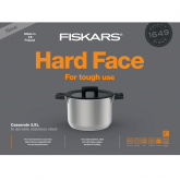 Кастрюля Fiskars Hard Face Casserole 3,5L 20cm w lid Steel (1025